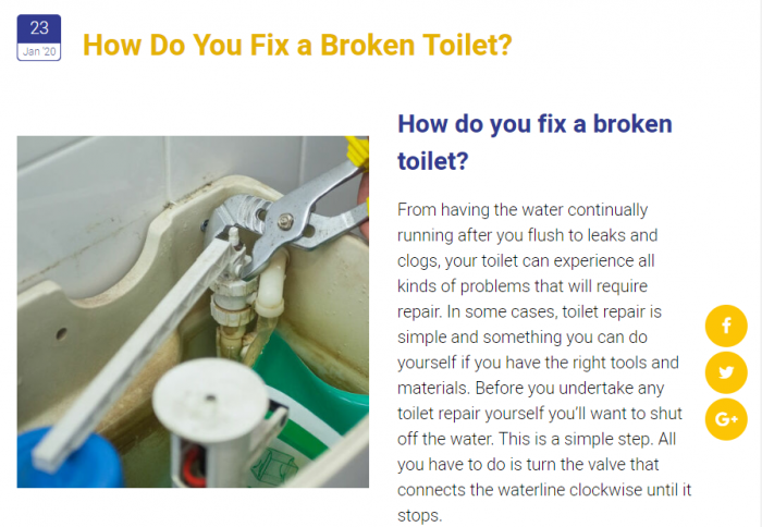 An Article From the Westside Plumbing Blog