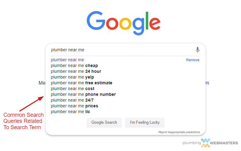Auto Suggest Example for Plumber Near Me