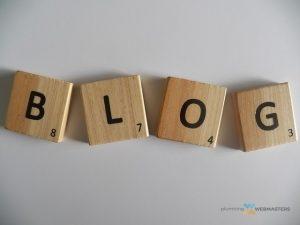 blog written in scrabble letters