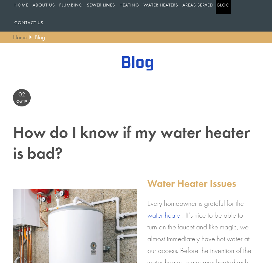 Blog From Local Contractor Website