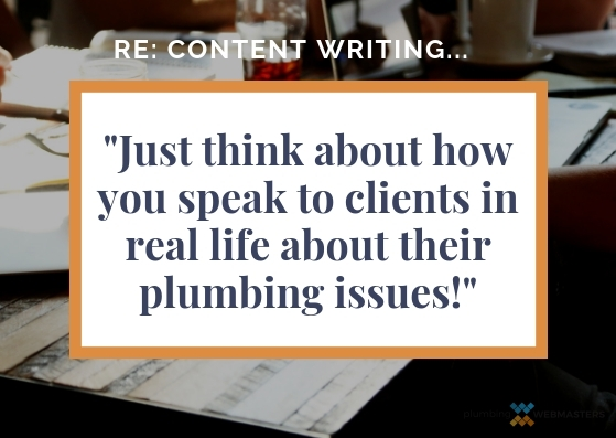 Content Quote for Plumbers
