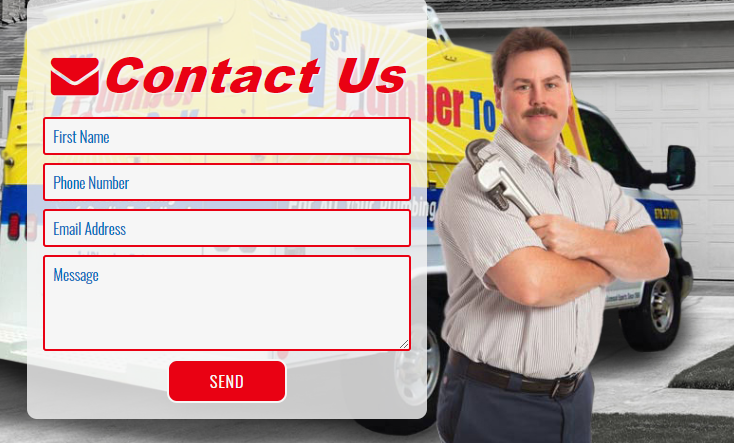 A Messaging Form on a Plumber Website