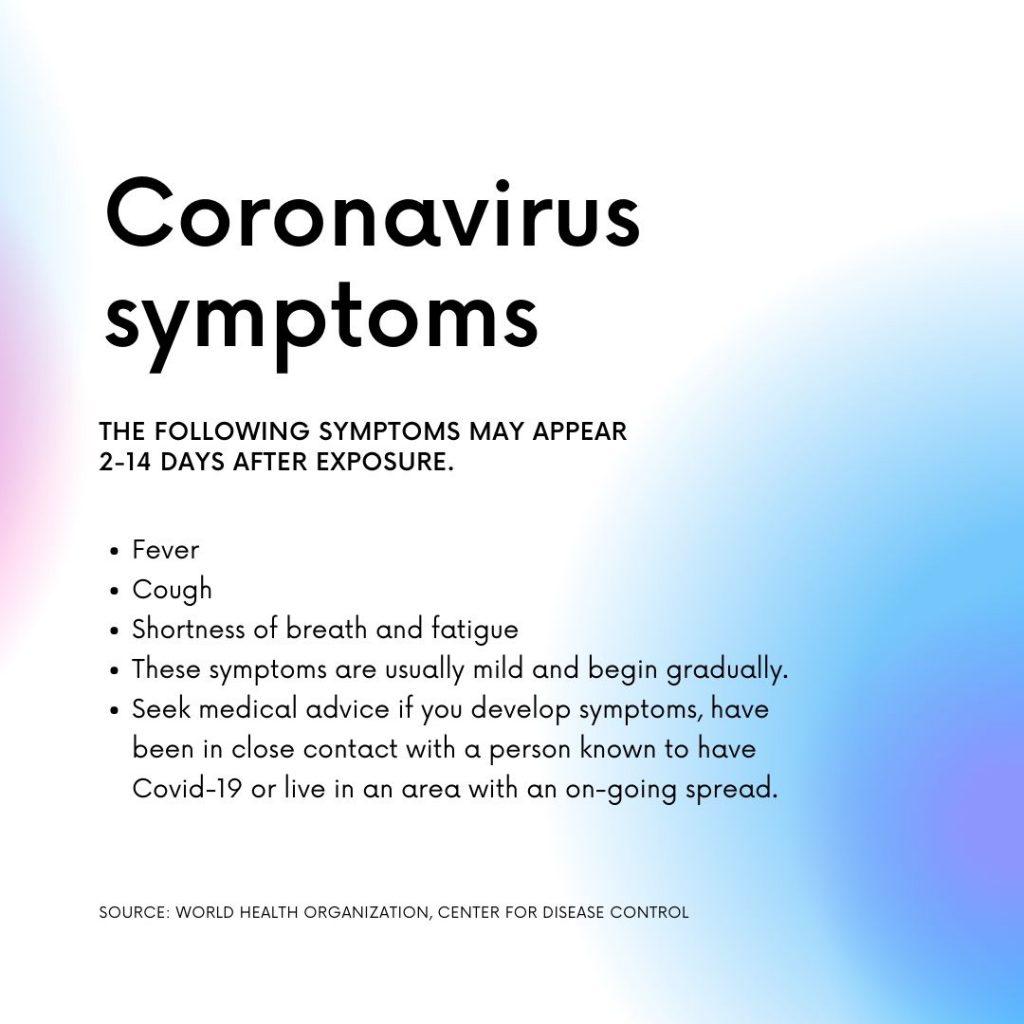 Coronavirus Symptoms Water Damage