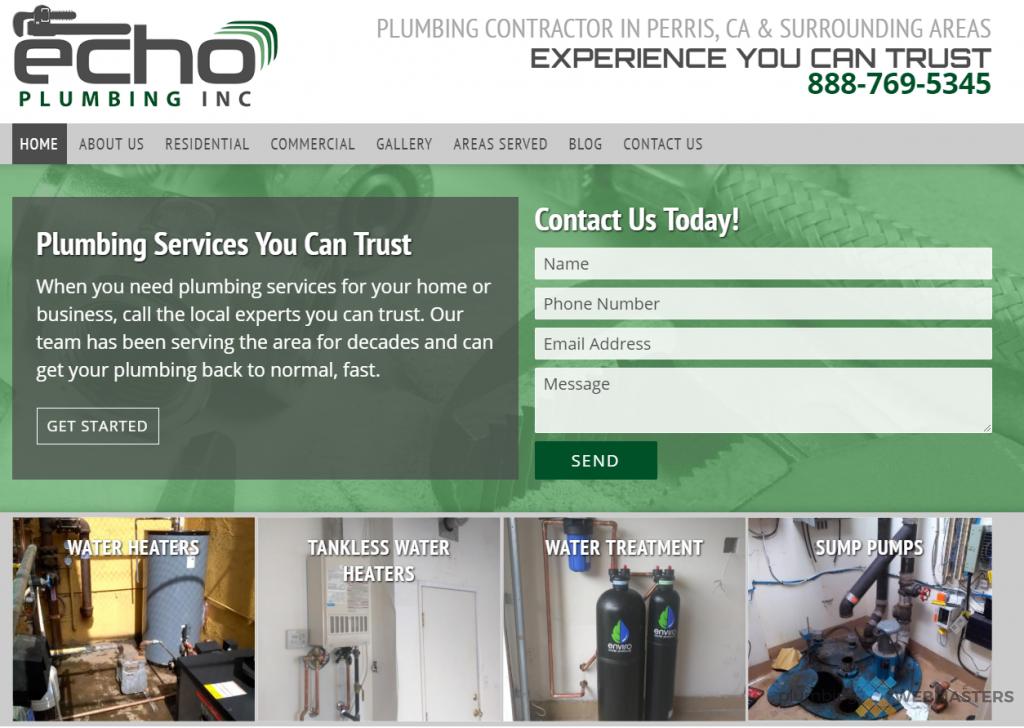 Custom Plumber Website Design