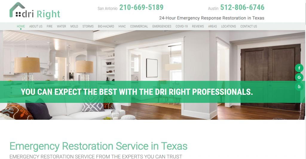 Custom Water Restoration Website