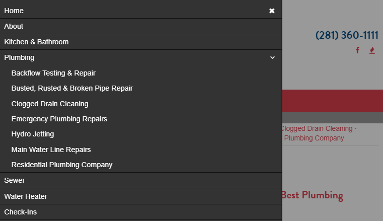 Dropdown Menu for Simplified User Experience