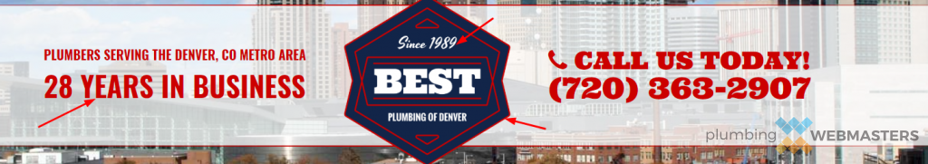 Example of Branding on Plumbing Website