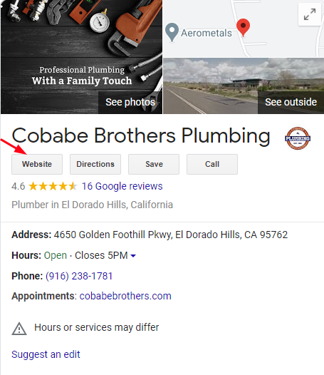GMB Link for Plumber