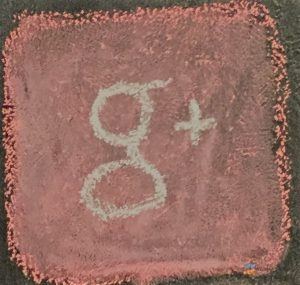 Google Plus Logo In Chalk