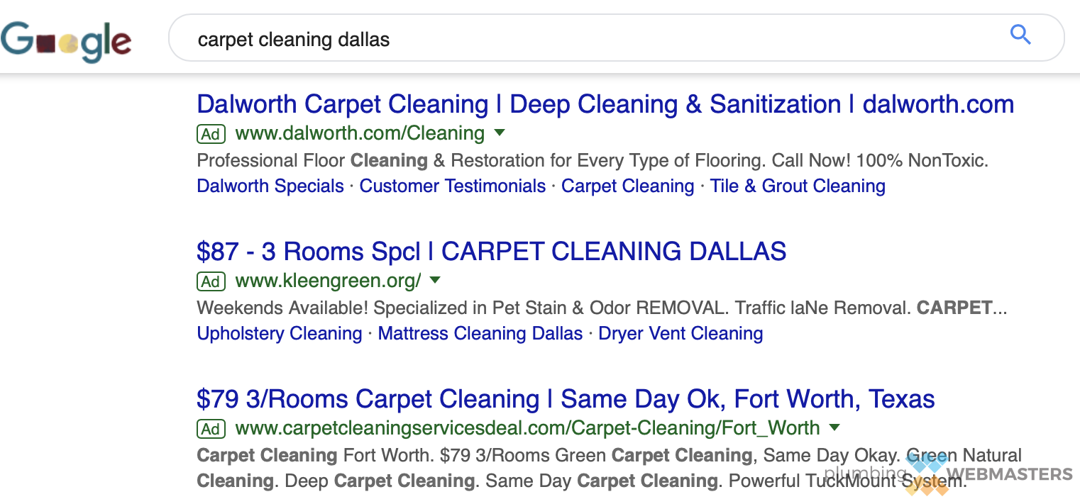 Google SERP Ads Screenshot