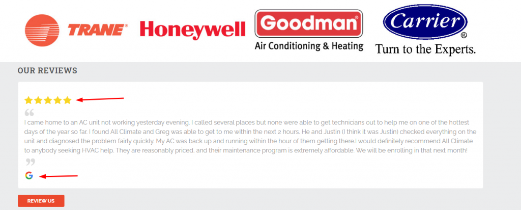 HVAC On-Site Review