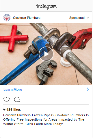 Instagram Video Ad for Plumber