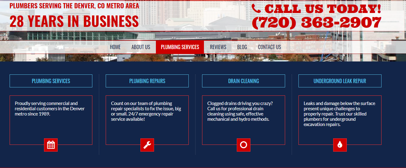 Landing Page for Plumbers