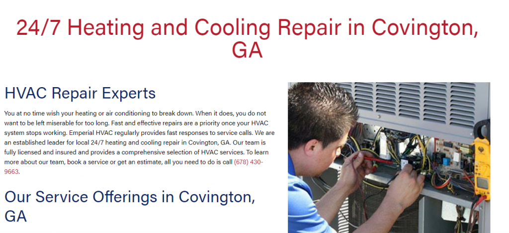 Location Page for HVAC Website