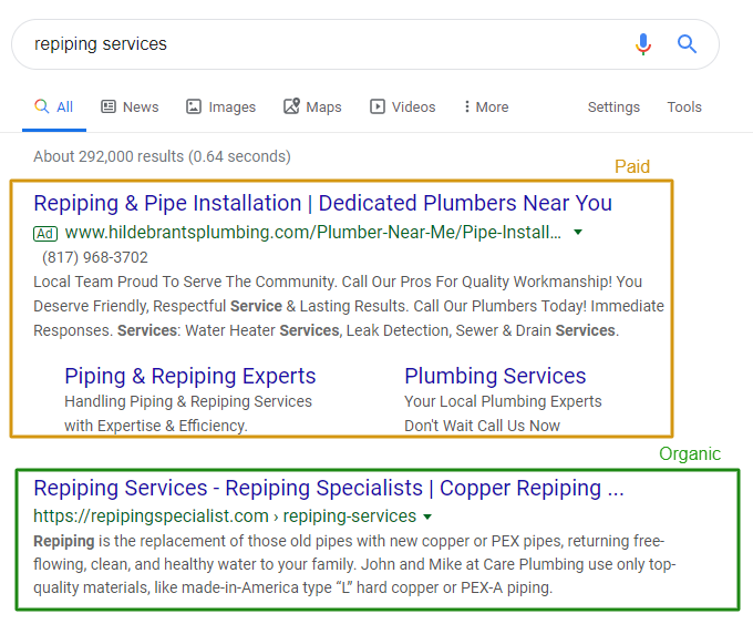SEO and PPC Results