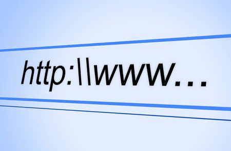 URL Address Bar Ready For Plumber Domain Name