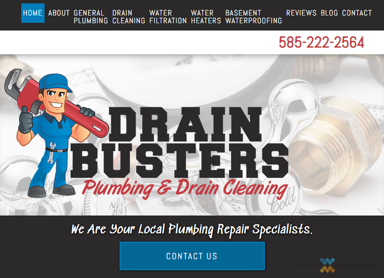 An Example of a Plumbing Contractor's Homepage