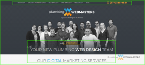Plumbing Webmasters Responsive Website Design Desktop View