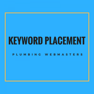 Plumbing Keyword Placement Graphic