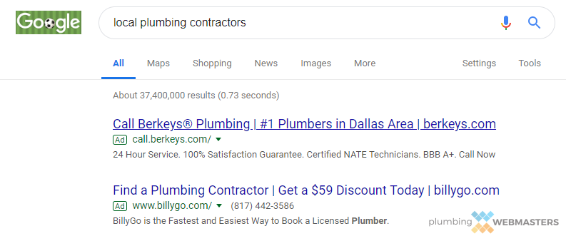 An Example of Ranking #1 on Google Through PPC