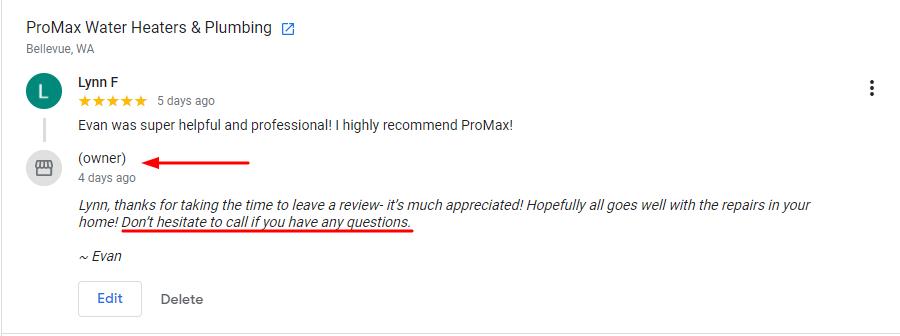 Plumbing Review Response