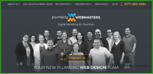 Tablet View of Plumbing Webmasters Responsive Website Design