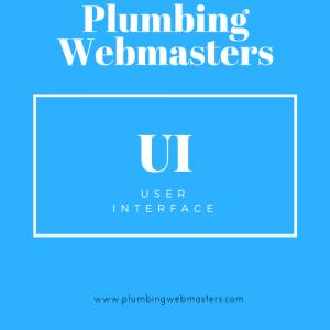 Plumbing Webmasters UI Design Graphic