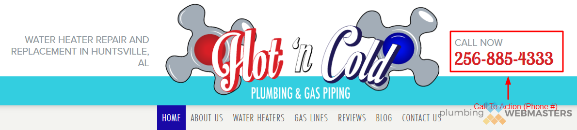 Plumbing Website Call to Action