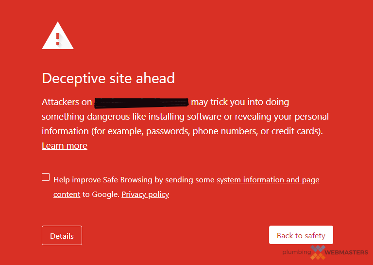 Red Website Warning