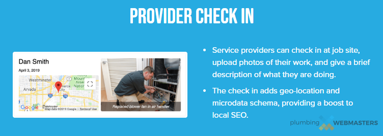 An Example of Reputation Management Through Service Check-ins