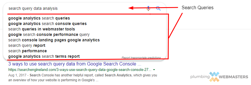 Search Query Data Analysis Shows the Different Ways That Your Clients Get to Your Services.