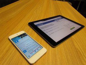 Social Media Platforms On Mobile and Tablet